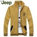 Listagem do novo Camisola 2016 outono nova cor sólida Dos Homens de Jipe homens camisola de malha Moda gola casaco camisola Tamanho Grande 98