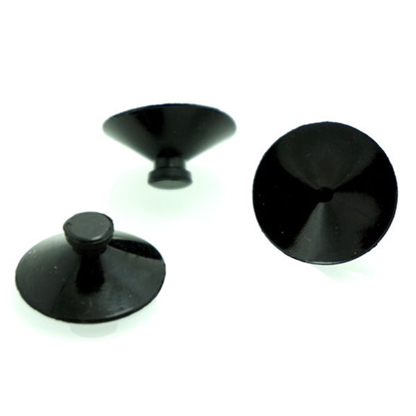 10 X Black Rubber 27mm Suction Cup Clip Sucker For Aquarium Fish Tank Pump