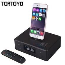 D9 Sans Fil Bluetooth Haut-Parleur Réveil de Soutien NFC FM Radio Chargeur Dock Station pour iPhone 5 6 6 S 7 Plus Android Smartphone
