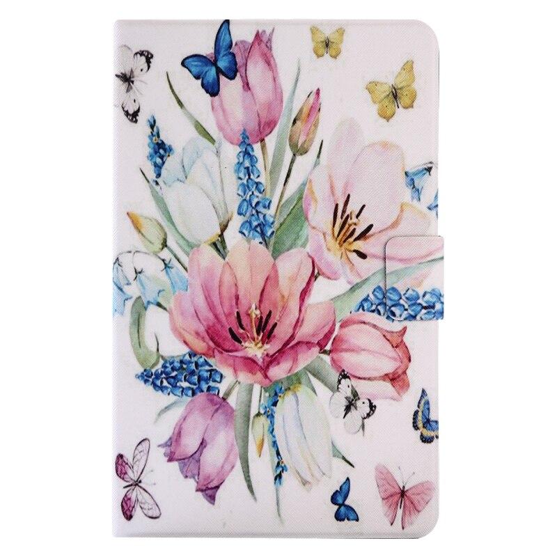 все цены на  Slim PU Leather Flip Case for Samsung Galaxy Tab A A6 10.1 2016 T580 T585 SM-T580 T580N Cases Wallet Stand Cover with Card Slots  онлайн