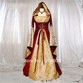 Hofadel Renaissance Medieval Game Gown Cape Hoodie Cosplay Costume Dress