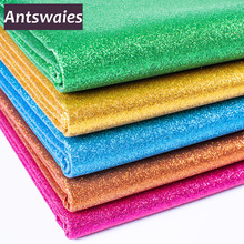 50cm*138cm Glitter Faux Leather Fabric Synthetic Leather For DIY Handmade Sew Clothes Accessories Supplies