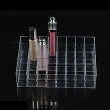 40 Trapecio Claro Maquillaje Lipstick Caso Del Soporte De Exhibición Organizador Cosmético Del Lápiz Labial Del Sostenedor Soporte de Exhibición De Acrílico Transparente