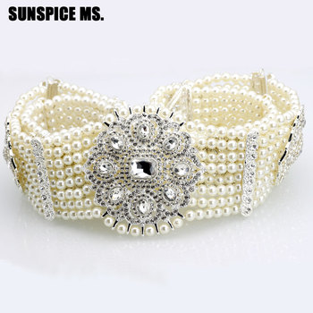 Deluxe Princess Handmade Beads Crystal Belt Jewelry For Women Wedding Waist Chain Girdle Fashion Bridal Body Jewelry Gift 2018