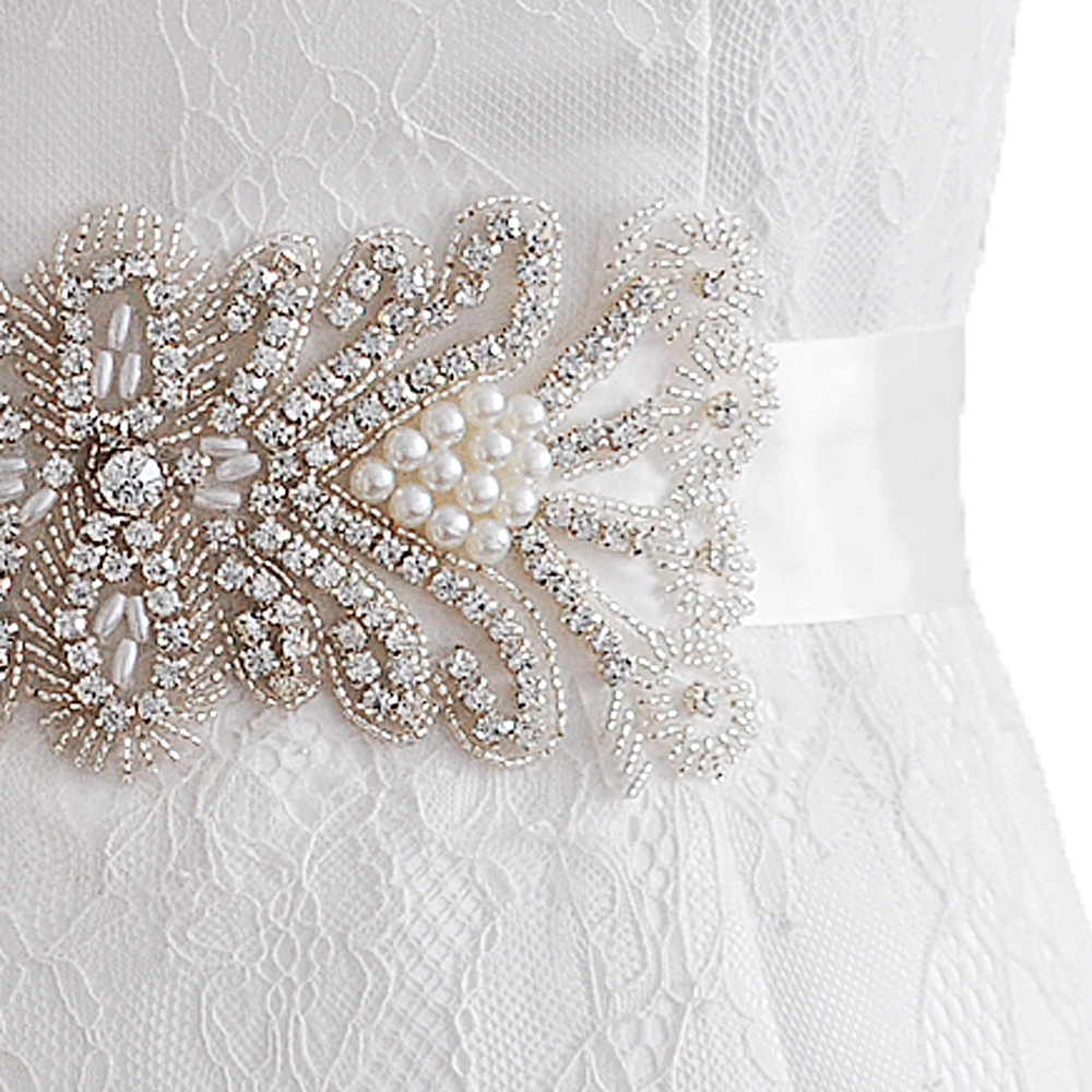 Bridal Blets Trixy B102 Rhinestones Beaded Thin Wedding Belts Wedding Sashes Handmade Crystal Rhinestone Bridal Belts Bridal Sashes Moderate Price