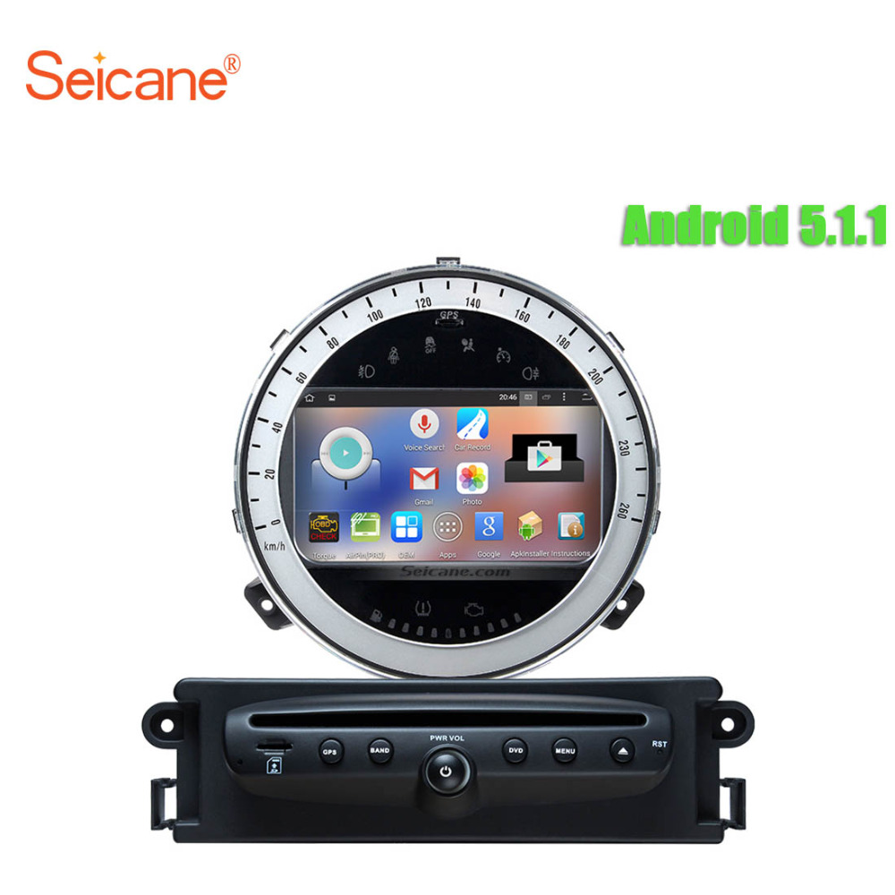buy seicane android 5 1 1 gps navigation for 2006 2013 bmw mini cooper car. Black Bedroom Furniture Sets. Home Design Ideas