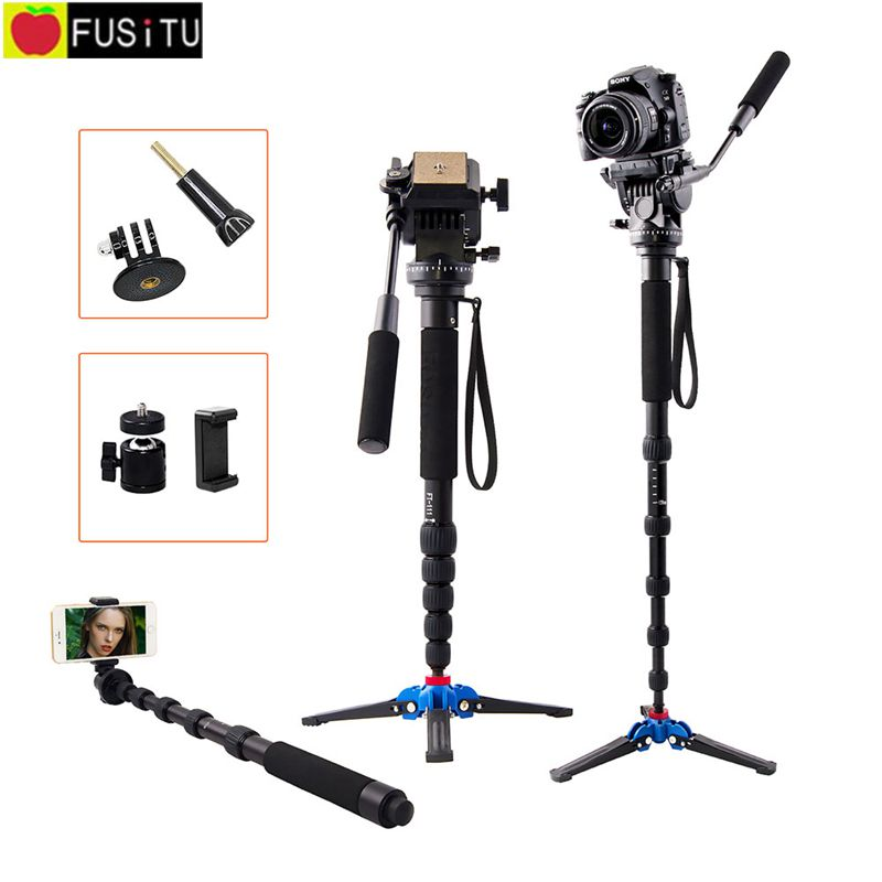 FT-111 1560mm Alumninum Camera monopod DSLR Flip Lock w/3 Legs Base Tripod Monopod With Ball Head for Canon Nikon DSLR phone jessica лак для ногтей hotter than hibiscus jessica custom nail colour upc 714 14 8 мл