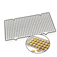 25*40cm Non-Stick Metal Cooling Baking Rack Black Rectangular Metal Mesh Nonstick Cake Cooling Rack Net For Cake Cookies S45