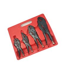 TLXC Auto Tool 4pcs/set Locking Pliers Multi-fouction Plier Black Heat Treatment for Sheet Metal Welding Car Repair Tool