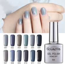 Hot Sale Healthy and Eco-friendly12Colors 8MLGray Series Gel Nail Polish Soak Off Gel Lucky UV Nail Varnish Soak Off Gel Lucky