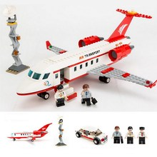8911 GUDI City Airport VIP Private Jet Plane Model Building Blocks Classic Enlighten Figure Toys For Children Compatible Legoe