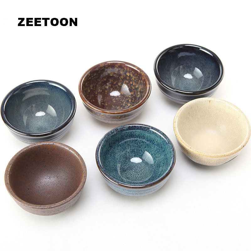 110ml Japanese Style Authentic Yixing Purple Clay Teacup Coarse Pottery Tea Cup Master Cup Kung Fu Tea Set Song Rhyme Tea Bowl ...