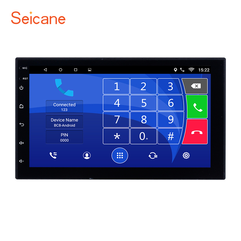 """Seicane Quad-core Android 6.0 7"""" Touchscreen Bluetooth 2 Din Car Radio GPS For Nissan TOYOTA Univeisal Hyundai support DVR OBD2"""
