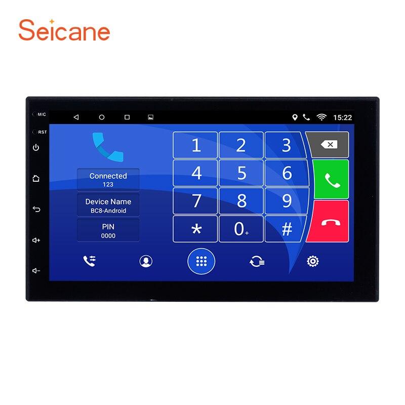 Seicane Quad-core Android 6.1 7 écran tactile Bluetooth 2 Din Voiture Radio GPS Pour Nissan TOYOTA Univeisal Hyundai soutien DVR OBD2