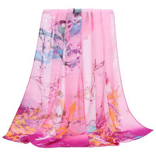 Fashion Women Scarves Blossom Printing Soft Long Wrap Scarf  New Ladies Chiffon Shawl