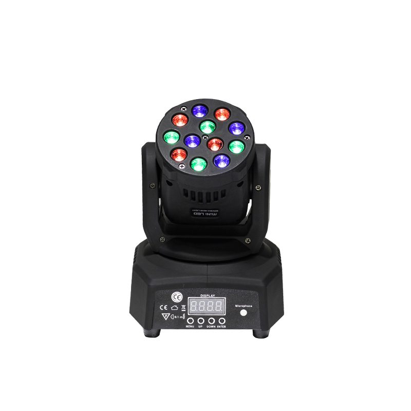 Promotional Packaging DMX Stage Light LED Moving Head Mini wash 12X3W RGB Professional Stage & DJ FREE&FAST shipping free shipping 3wx36 rgb moving head wash professional dmx disco light show new product for 2016
