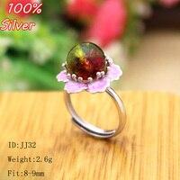 ורוד אמייל 100% 925 תכשיטי טבעת כסף סטרלינג ריק, Fit 8-9 מ