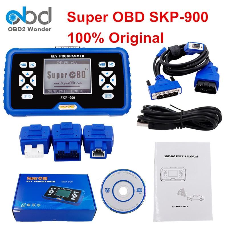 Prix pour DHL Origine Gratuit SuperOBD SKP900 Programmeur principal Automatique Superbe OBD SKP-900 logiciel V4.5 SKP 900 Aucun Jetons Limiter Pour Presque Toutes Les Voitures