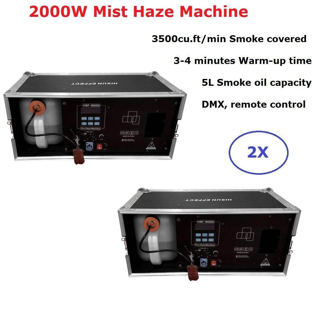 2000 W Máquina de Neblina Neblina 5L Capacidade de Óleo Equipamentos de Iluminação De Palco DMX 512 Máquina de Fumaça Profissional Palco Dj Máquina De Casamento