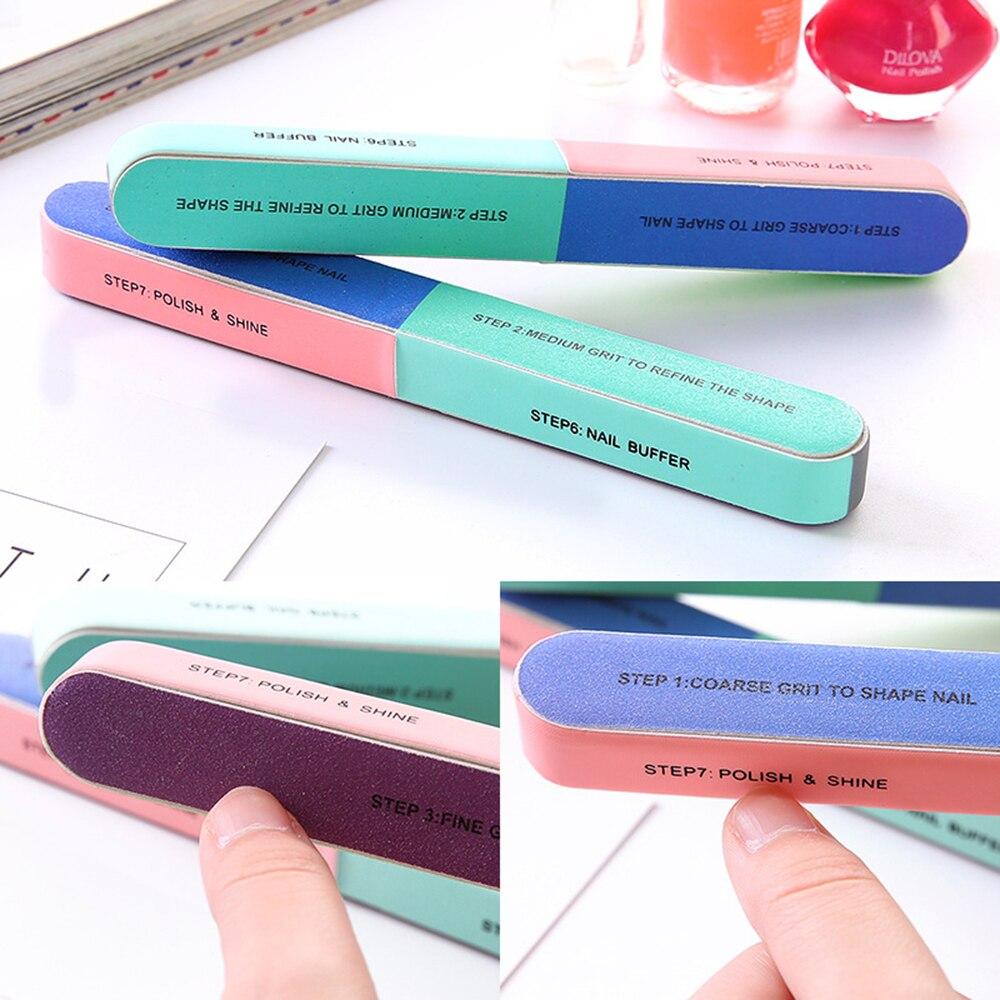 1PCS Six-sided Polishing Nail File Creative Tool Printing Nail File Sanding Professional Nail File Drop Nail Art Tool