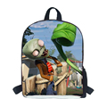 New 2015 Trendy Design Plants Vs Zombies Backpack Fashion Children Cartoon Mochila Small School Bag Kids Rucksack for Infantil