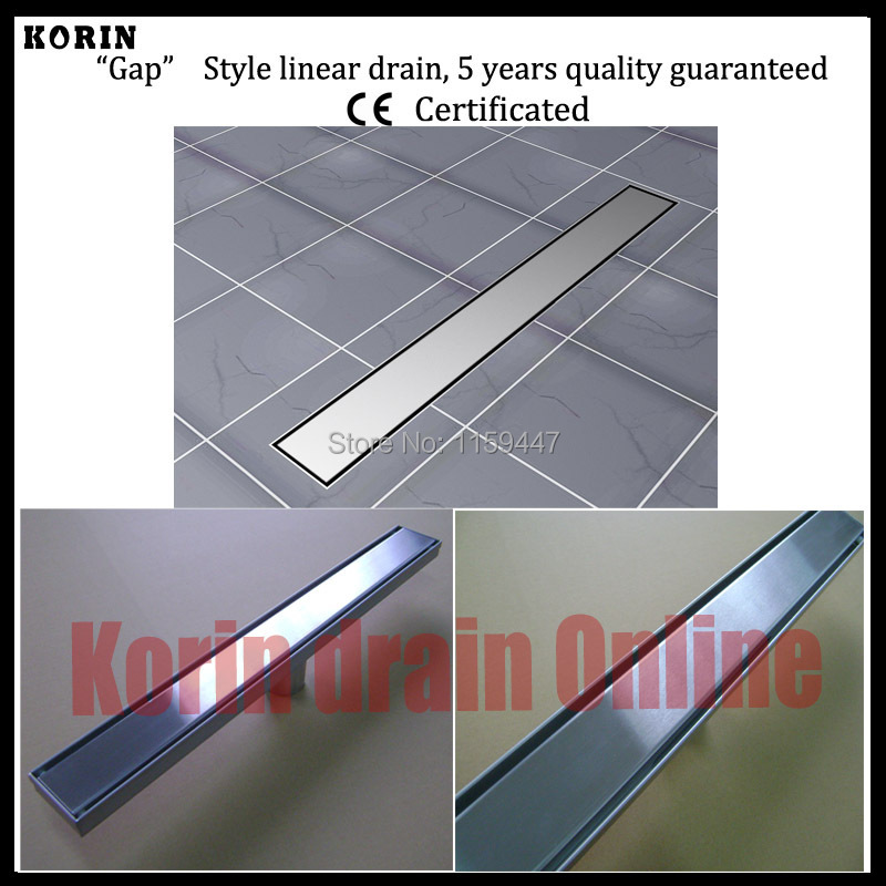 600mm Smooth Style Stainless Steel 304 Linear Shower Drain, Vertical Drain, Floor Waste, Long floor drain, Shower channel 1200mm zipper style stainless steel 304 linear shower drain vertical drain floor waste long floor drain shower channel