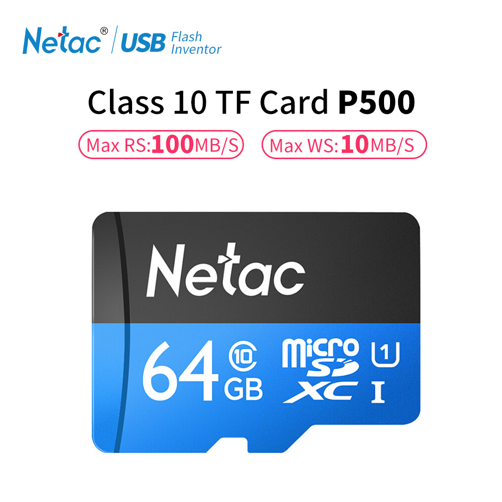 Netac P500 Class 10 32GB 64GB Micro SD Card Read Speed Up To 100MB/s 16GB 128GB UHS-1TF Flash Memory Card For Cell Phones Camera netac class 10 16gb 32gb micro card sdhc tf card flash memory card data storage high speed 80mb s micro sd card for phone