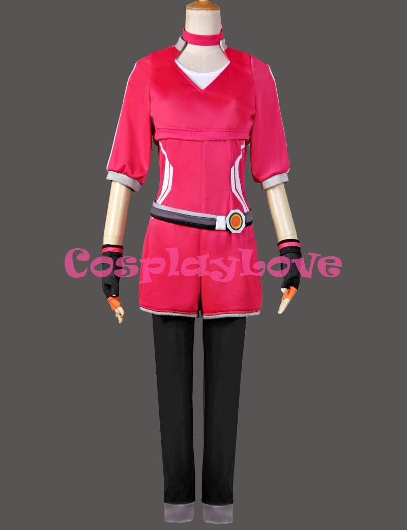 Pocket Monster Pokemon Go Red Team Gym Trainer Cosplay Costume Girl's Red Uniform Halloween Costumes