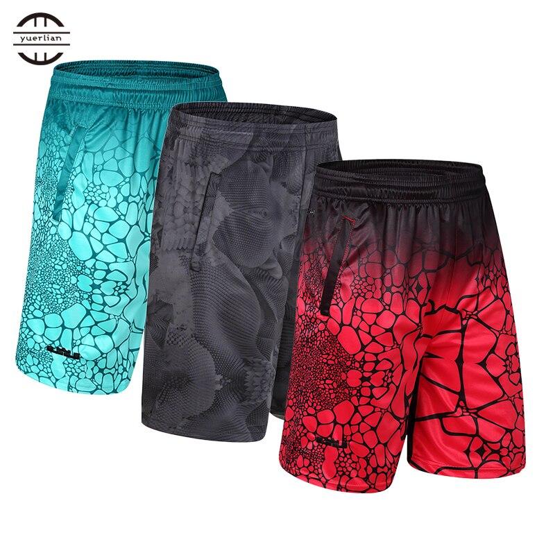 Yuerlian 2017 Neue Elastische Tasche Fußball Jersey Korb Sportswear Lose Sport männer Shorts Tennis Männer Zipper Basketball Shorts