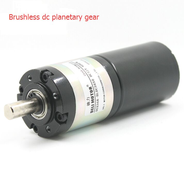 DELI MOTOR Brushless dc planetary gear motor DGX36 BL3650 DC12v24v with brake
