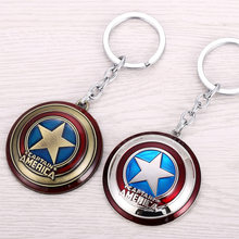 Legal marca new marvel super hero the avengers capitão américa escudo action figure keychain chaveiro boneca(China)