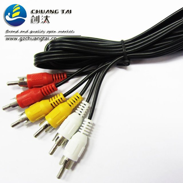 2012 global hot selling 6FT 3RCA To 3RCA AV Cable