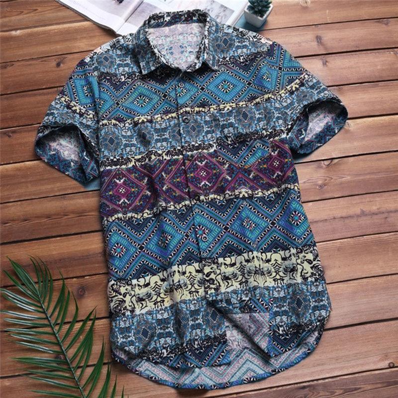 Casual Fashion Short Sleeve Button Down Shirts 2