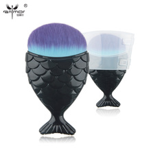 Anmor 1 PCS Foundation Fish Brush Synthetic Hair Makeup Brushes Professional Mak