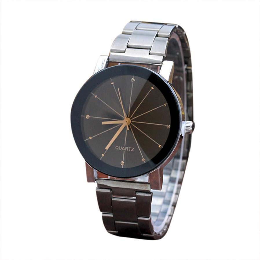 Роскошные брендовые уникальные часы для влюбленных пар с арабскими номерами Женские кварцевые наручные часы из нержавеющей стали с сеткой Reloj Masculino - Цвет: BKM