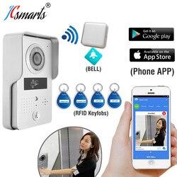 ACTOP wifi603 WiFi vidéo porte téléphone caméra sans fil sonnette interfone avec lecteur de carte RFID pour la sécurité d'accès à la porte