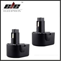 2x Eleoption 3000mAh 12V Replacement Battery For Dewalt DW9071 DW9072 DC9071 DE9037 DE9071 DE9072 DE9074 DE9075