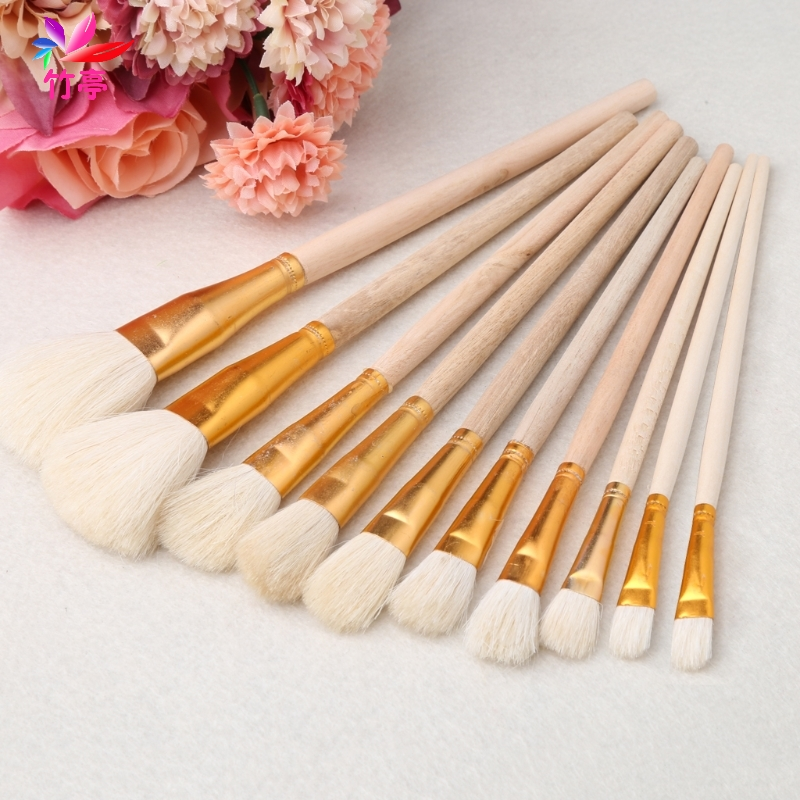 Brushes set for art painting oil acrylic watercolor for Acrylic mural paint supplies