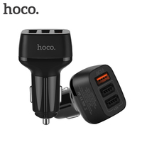 HOCO 3 Ports Car Charger Support Quick Charge 2 0 3 0 For Huawei FCP Mobile