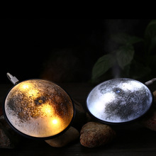 XET-New Mini USB Portable Ultrasonic Moon Air Humidifier Essential Oil Aroma Diffuser Mist Maker Led Lights For Home Offices Car