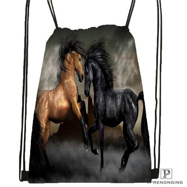 Custom hunting season Drawstring Backpack Bag Cute Daypack Kids Satchel Black Back 31x40cm 180612 02 40