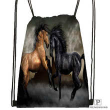 Custom hunting_season  Drawstring Backpack Bag Cute Daypack Kids Satchel (Black Back) 31x40cm#180612-02-40