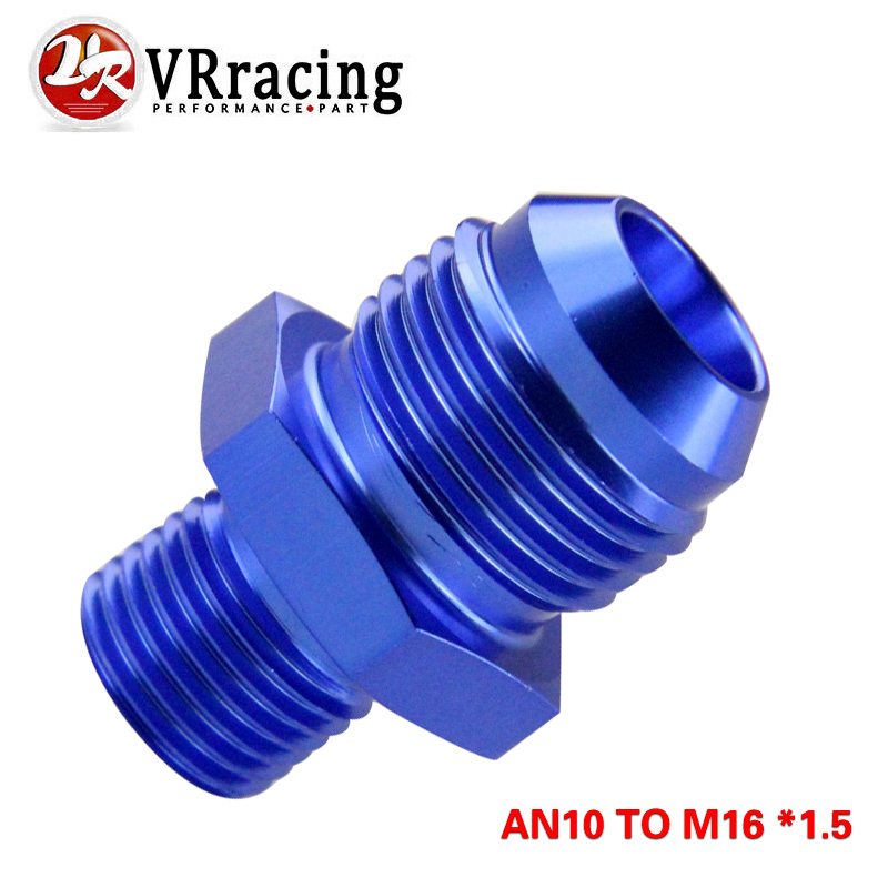 Blue M14x1.5MM Male-6AN Male Flare Oil//Fuel//Fluid Union Hose Fitting Adapter
