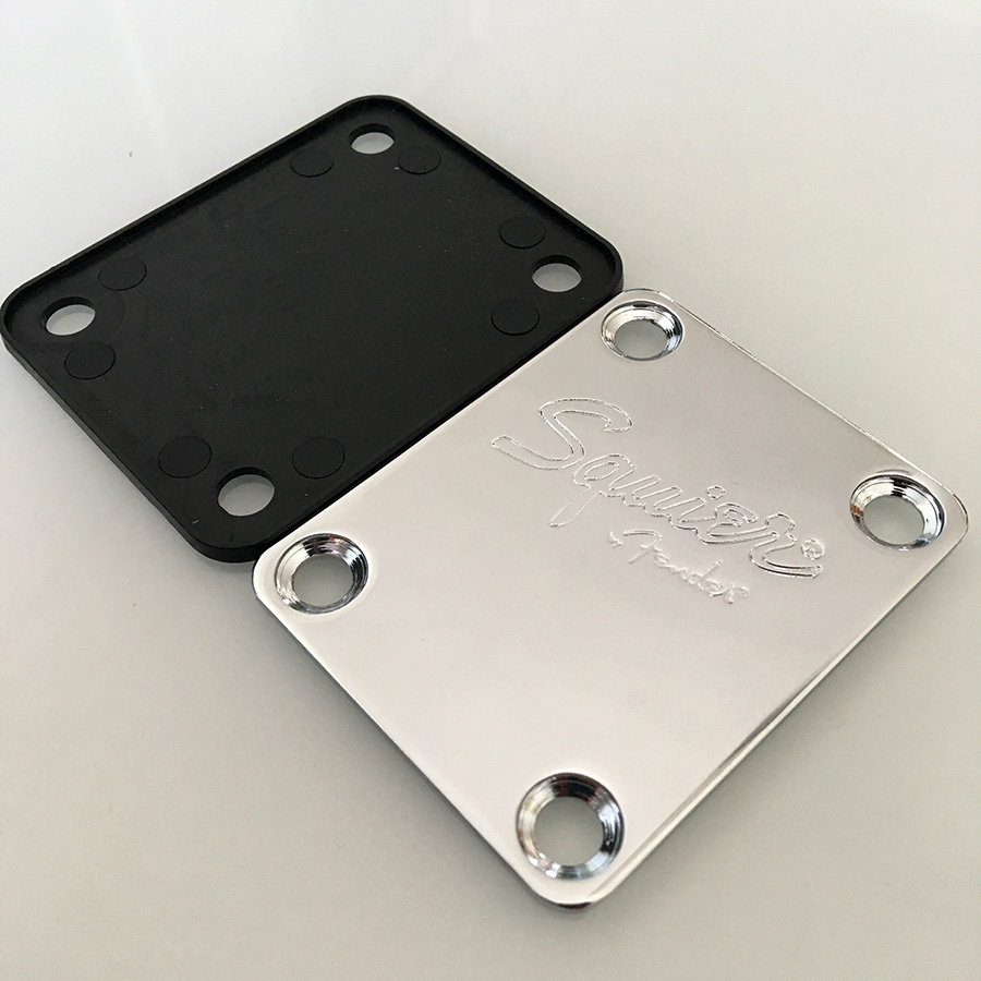 Chrome Electric Guitar Neck Plate For ST TELE Guitar Bass Enhanced Edition guitar parts Including Screws in Guitar Parts Accessories from Sports Entertainment