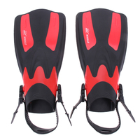 1Pair Long Swimming Fins Webbed Diving Flippers Webbed Training Pool Water Sports Men Women Boots Shoes