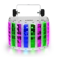100 240V 24W RGBW LED 6 Channel Dmx 512 Stage Lighting Voice Control Automatic Control LED Projector DJ Home KTV Disco Lights