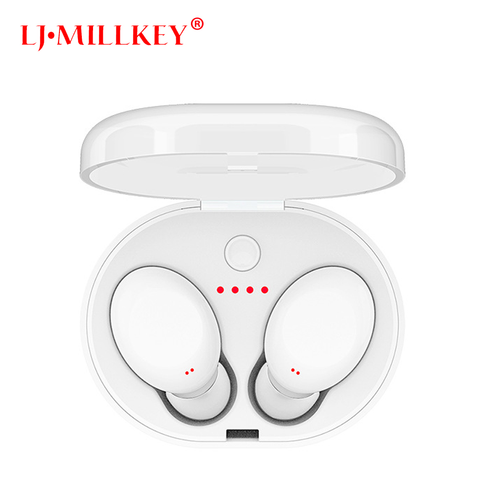 TWS Bluetooth Earphone True Wireless Stereo Earbud Waterproof Bluetooth Headset for Phone HD Communication LJ-MILLKEY YZ118