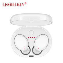 TWS Bluetooth Earphone True Wireless Stereo Earbud Waterproof Bluetooth Headset for Phone HD Communication LJ MILLKEY