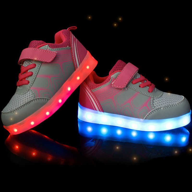 Image 4 - Children Luminous Sneakers 2018 New Spring Kids Sneakers USB Rechargeable Colorful LED Shoes for Girls Boys Shoes With light-in Sneakers from Mother & Kids on AliExpress