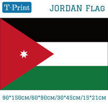 Free shipping The Hashemite Kingdom of Jordan National Flag 90*150cm 60*90cm 15*21cm 30*45cm Car For Day